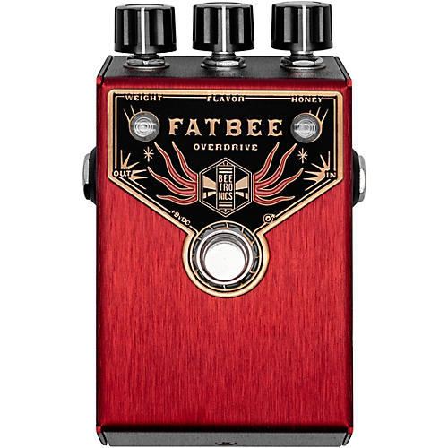 Beetronics FX Fatbee Overdrive Effects Pedal Red