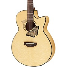 Open BoxLuna Guitars Fauna Butterfly Acoustic-Electric Guitar