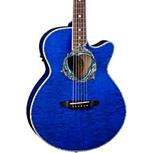Luna Guitars Fauna Dolphin Acoustic-Electric Guitar