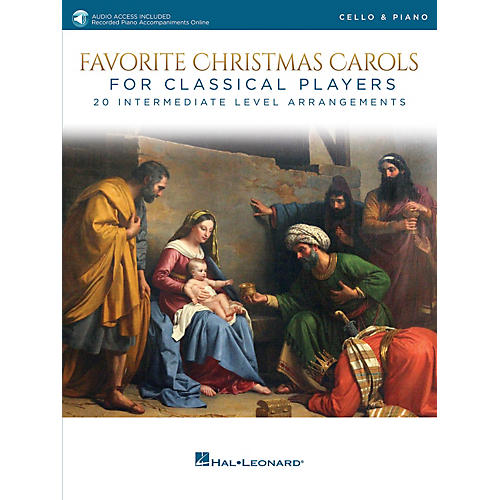 Hal Leonard Favorite Christmas Carols for Classical Players - Cello and Piano Book/Audio Online