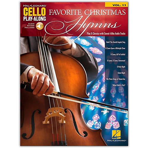 Hal Leonard Favorite Christmas Hymns - Cello Play-Along Volume 11 Songbook Book/Audio Online