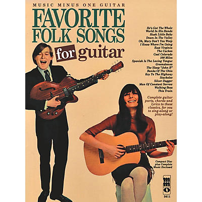 Music Minus One Favorite Folks Songs for Guitar Music Minus One Series Softcover with CD