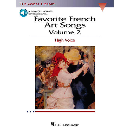 Hal Leonard Favorite French Art Songs for High Voice Volume 2 Book/CD