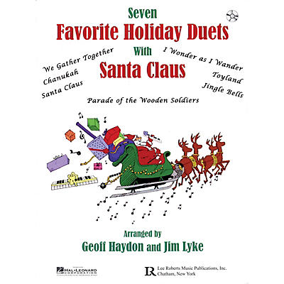Lee Roberts Favorite Holiday Duets with Santa Claus Pace Piano Education Series Softcover with CD by Geoff Haydon