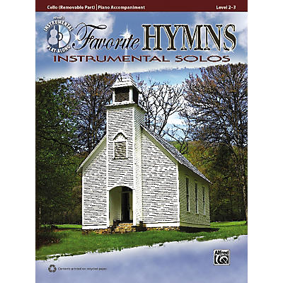 Alfred Favorite Hymns Instrumental Solos Cello Book & CD