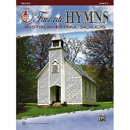 Alfred Favorite Hymns Instrumental Solos French Horn Book & CD