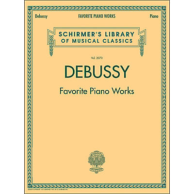 G. Schirmer Favorite Piano Works Piano Vol 2070 By Debussy