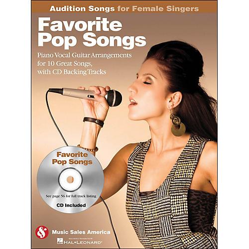 Hal Leonard Favorite Pop Songs - Audition Songs for Female Singers Book/CD