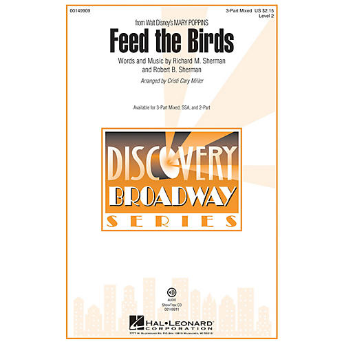 Hal Leonard Feed the Birds (Discovery Level 2) 3-Part Mixed arranged by Cristi Cary Miller