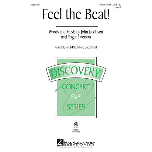 Hal Leonard Feel the Beat! (Discovery Level 1) 2-Part Composed by Roger Emerson