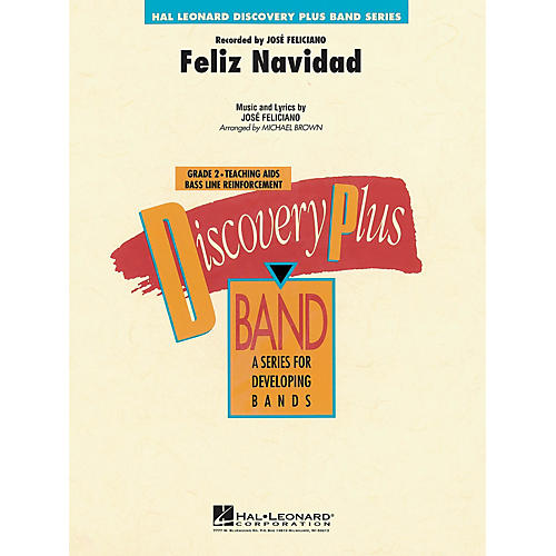 Hal Leonard Feliz Navidad - Discovery Plus Concert Band Series Level 2 arranged by Michael Brown