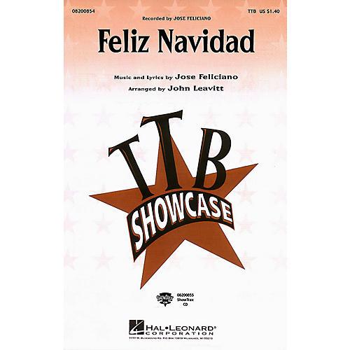 Hal Leonard Feliz Navidad TTB by Jose Feliciano arranged by John Leavitt