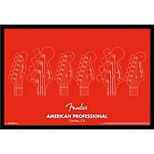 Fender - American Professional Poster Framed Black