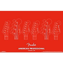 Fender - American Professional Poster Rolled Unframed
