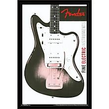 Fender - Jazzmaster Poster Framed Black