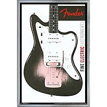 Fender - Jazzmaster Poster Framed Silver