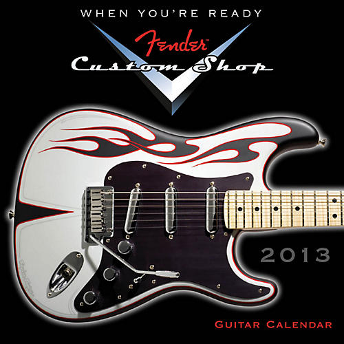 Hal Leonard Fender Custom Shop 2013 Mini Wall Guitar Calendar