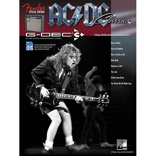Music Sales Fender G-Dec AC/DC Play-Along Guitar Songbook/SD Card