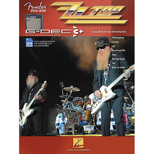 Hal Leonard Fender G-Dec ZZ Top Guitar Play-Along Songbook/SD Card