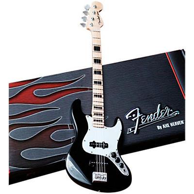 Axe Heaven Fender Jazz Bass Black Miniature Guitar Replica Collectible