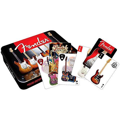 Hal Leonard Fender Playing Cards 2 DECK SET GIFT TIN