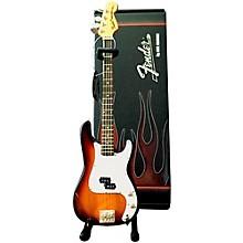 Open BoxAxe Heaven Fender Precision Bass Sunburst Miniature Guitar Replica Collectible
