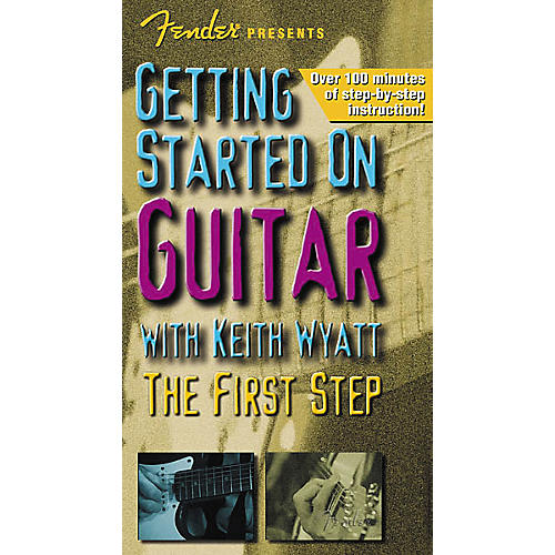 Hudson Music Fender Presents Getting Started on Guitar - The First Step (VHS)