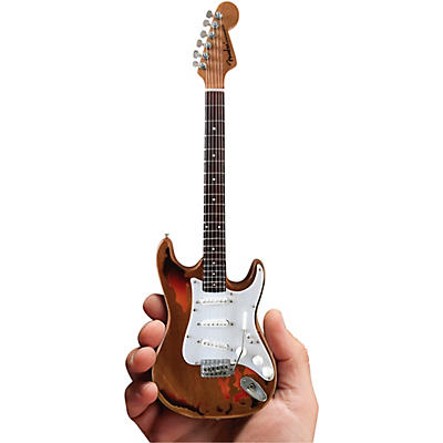 Axe Heaven Fender Stratocaster - Aged Sunburst Distressed Finish Officially Licensed Miniature Guitar Replica