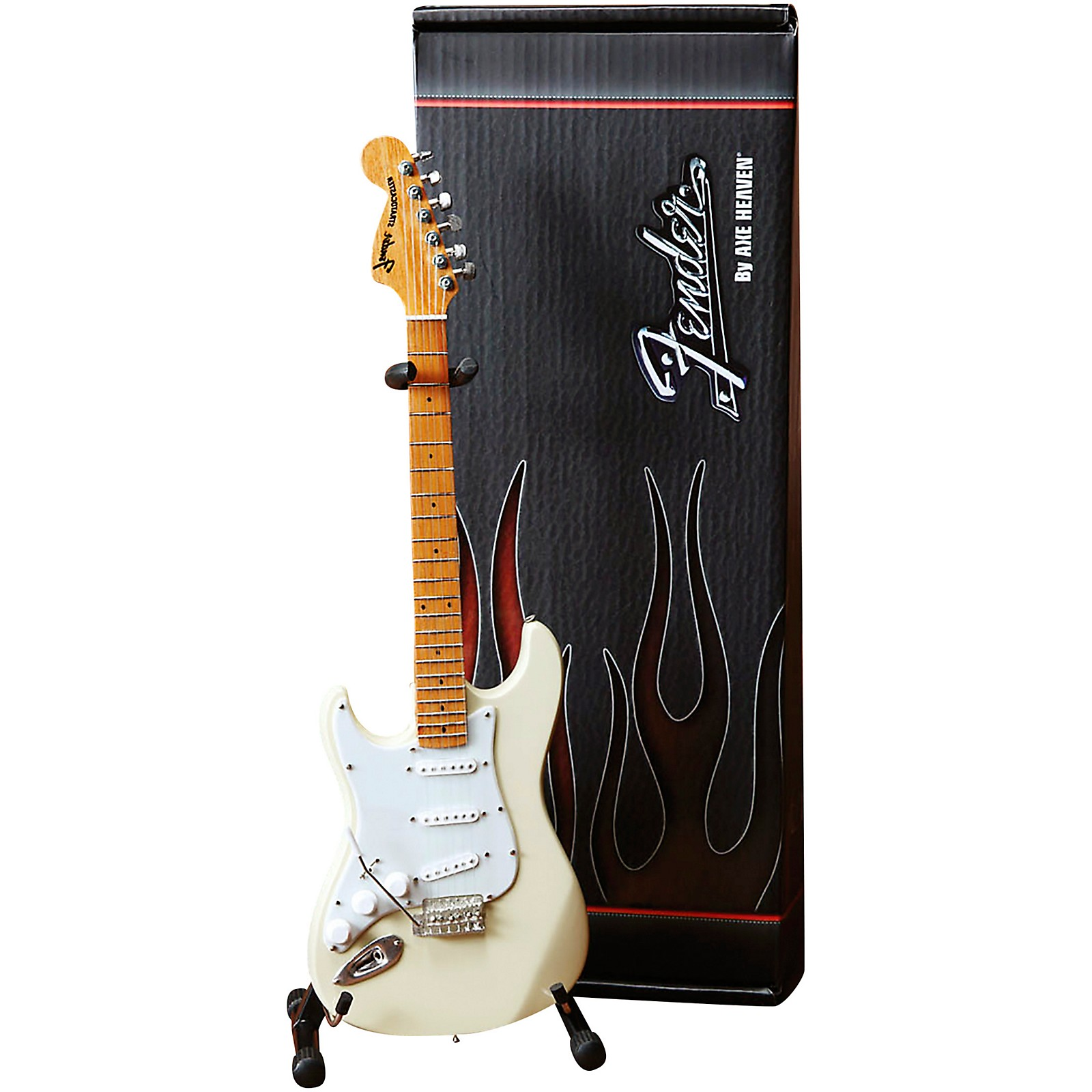 Axe Heaven Fender Stratocaster White with Reverse Headstock for Leftys Officially Licensed Mini Guitar Replica