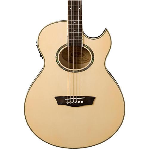 Washburn Festival EA20 Spruce Top Acoustic Cutaway Electric Mini Jumbo Flame Maple Guitar with 4-Band EQ
