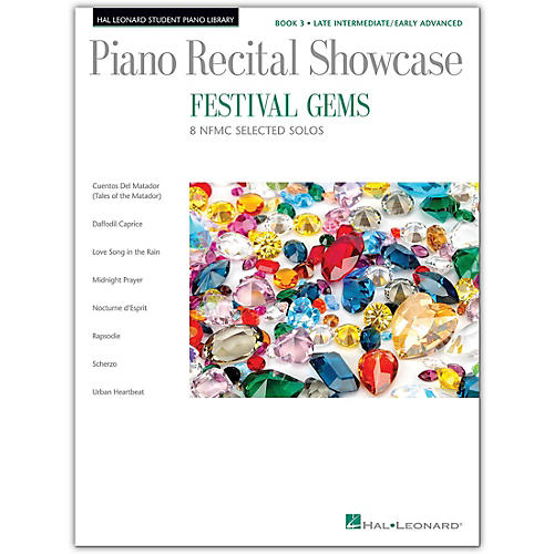 Hal Leonard Festival Gems Book 3-10 Outstanding NFMC Late Intermediate/Early Advanced Solos