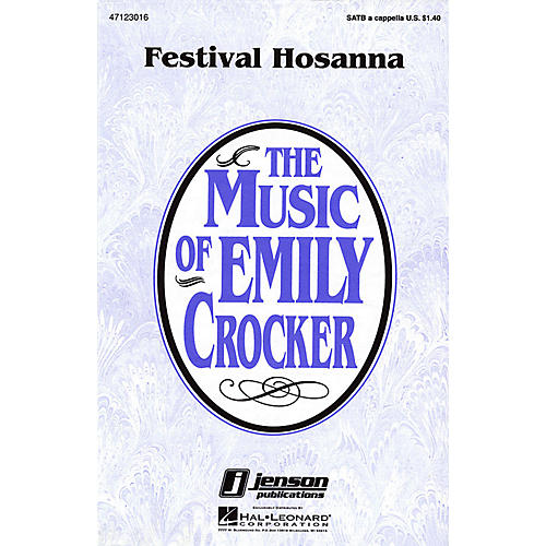 Hal Leonard Festival Hosanna SATB a cappella composed by Emily Crocker