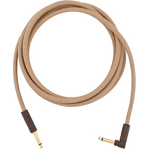 Fender Festival Pure Hemp Straight to Angle Instrument Cable 10 ft. Brown