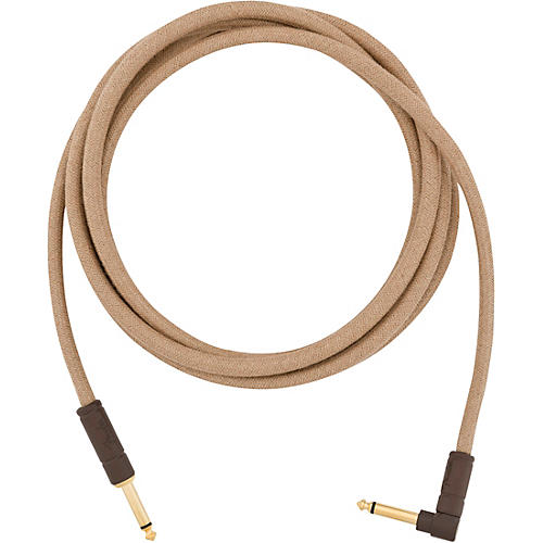 Fender Festival Pure Hemp Straight to Angle Instrument Cable 10 ft. Natural