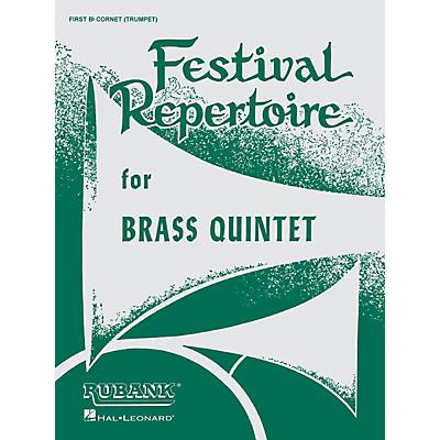 Rubank Publications Festival Repertoire for Brass Quintet (Baritone T.C. (4th Part)) Ensemble Collection Series