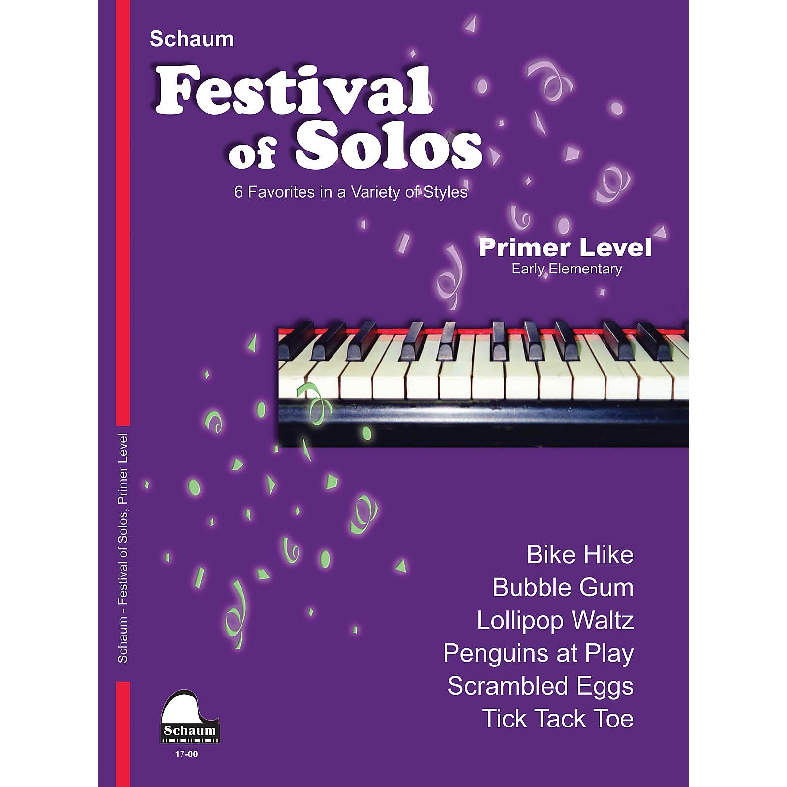 SCHAUM Festival of Solos Educational Piano Book by John W. Schaum (Level Early Elem)