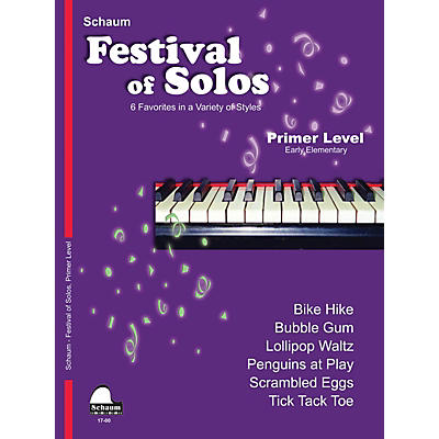 SCHAUM Festival of Solos Educational Piano Book by John W. Schaum (Level Early Elem)