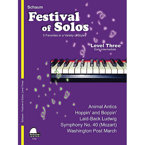 SCHAUM Festival of Solos (Level 3 Early Inter Level) Educational Piano Book by Various