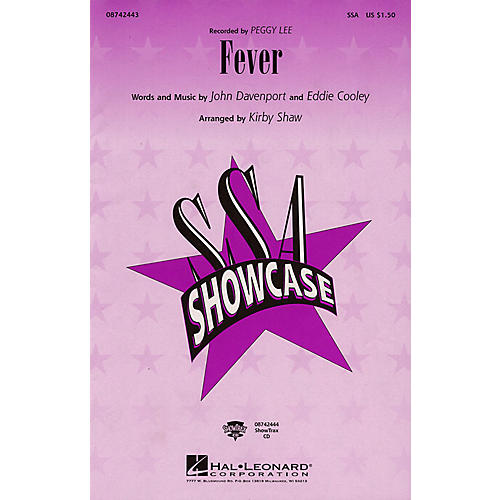 Hal Leonard Fever (ShowTrax CD) by Peggy Lee Arranged by Kirby Shaw