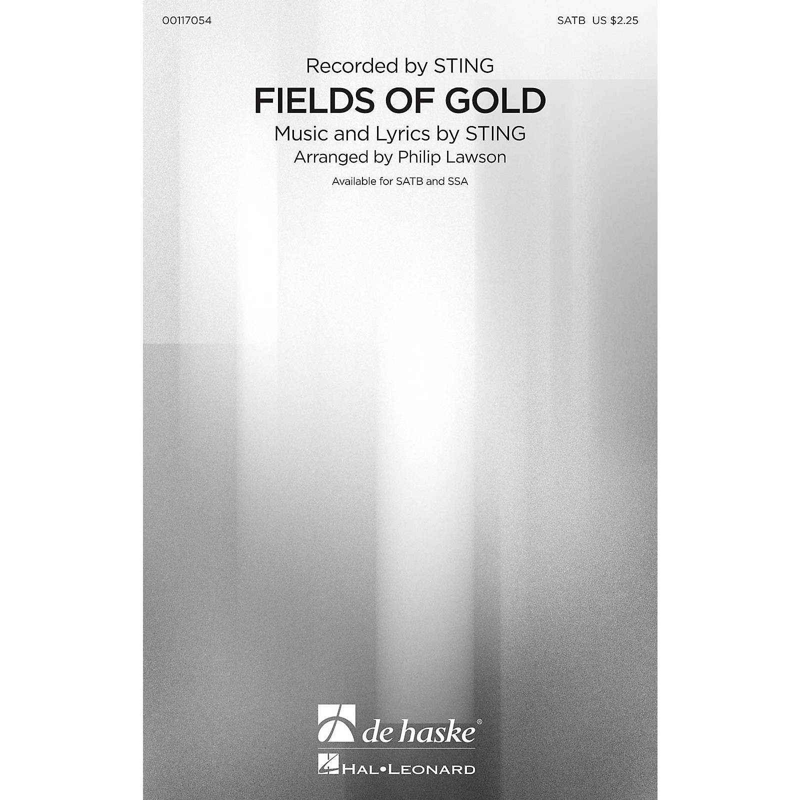 De Haske Music Fields of Gold (SATB) SATB by Sting arranged by Philip Lawson