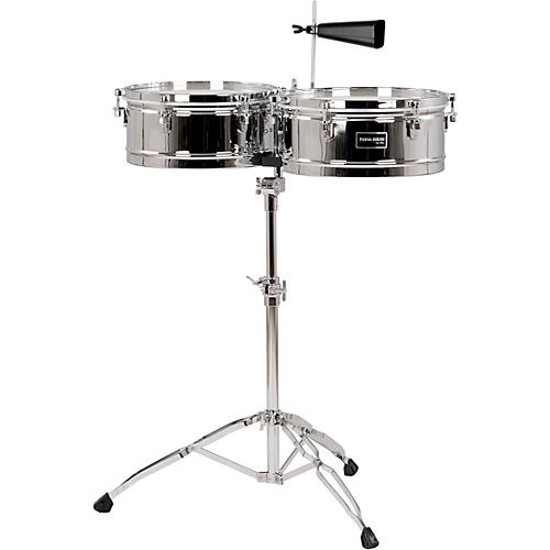 Gon Bops Fiesta Series Timbale Set 14 in./15 in. Chrome
