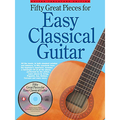 Music Sales Fifty Great Pieces for Easy Classical Guitar Guitar Series Softcover with CD
