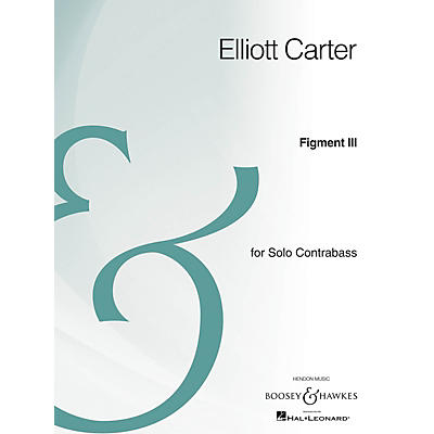 Boosey and Hawkes Figment III (Solo Contrabass Archive Edition) Series
