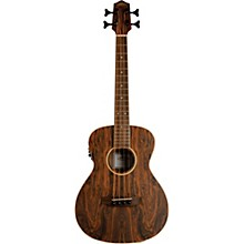 Lanikai Figured Bocote Bass Ukulele Electric with Fishman Classica II Pickup and Tuner