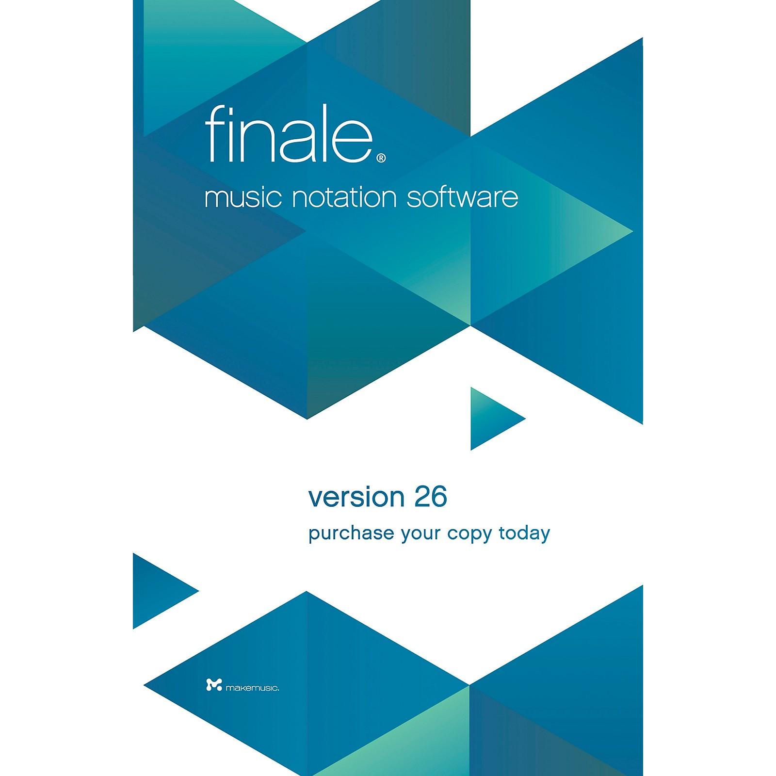 Makemusic Finale Music Notation Software V26 Academic Dealer Download