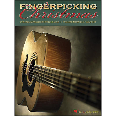 Hal Leonard Fingerpicking Christmas 20 Carols Arranged for Solo Guitar in Notes & Tablature