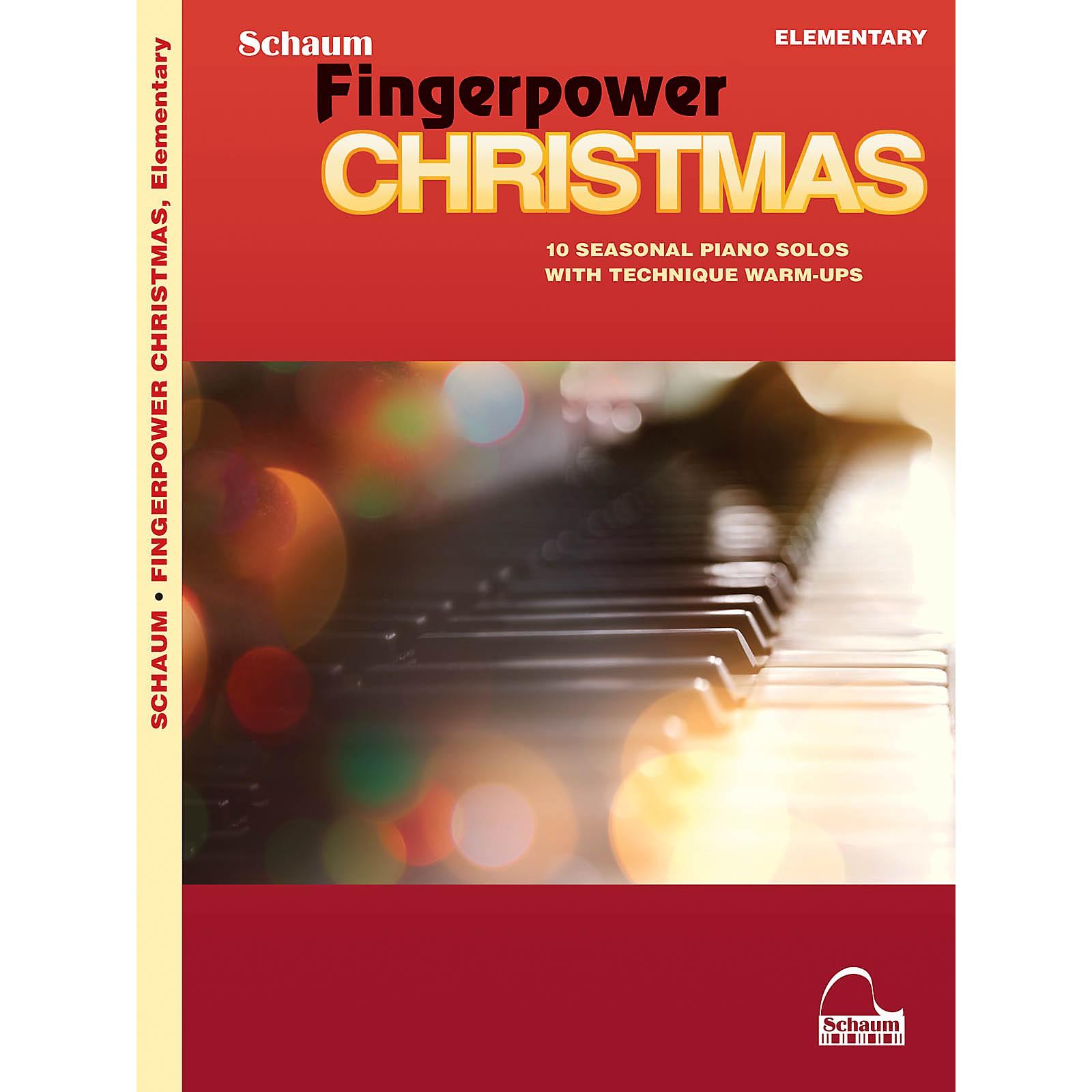 SCHAUM Fingerpower Christmas - 10 Seasonal Piano Solos with Technique Warm-Ups