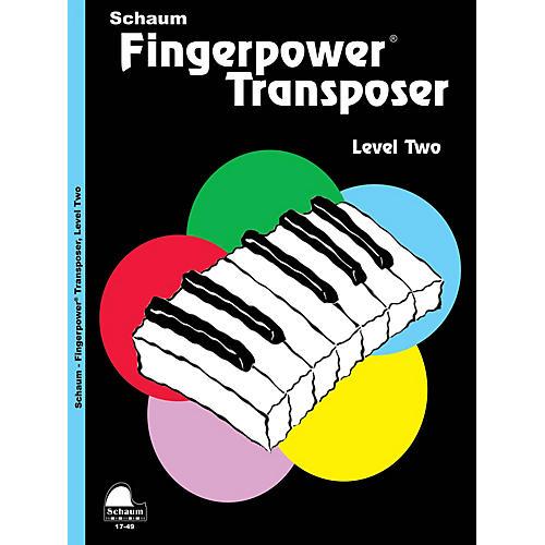 SCHAUM Fingerpower® Transposer Educational Piano Book by Wesley Schaum (Level Late Elem)
