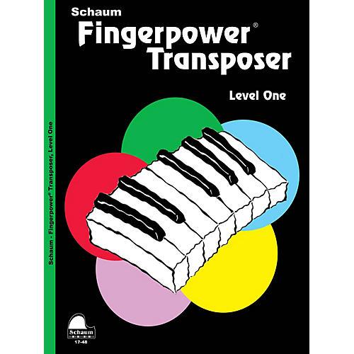 SCHAUM Fingerpower® Transposer (Level 1 Elem Level) Educational Piano Book by Wesley Schaum