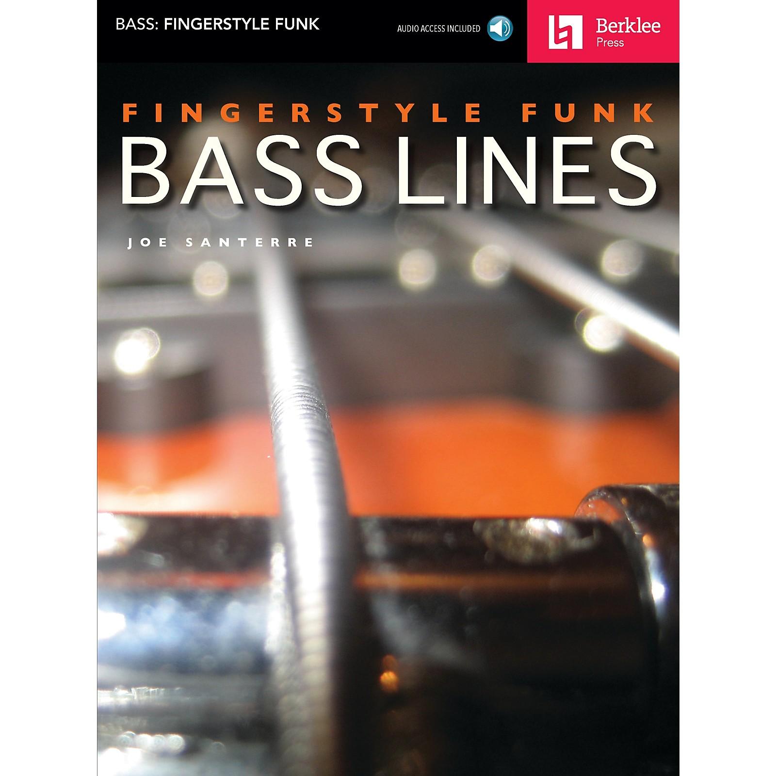 Berklee Press Fingerstyle Funk Bass Lines Berklee Guide Series Softcover with CD Written by Joe Santerre